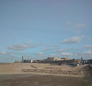 Ostend as seen from end of promenade