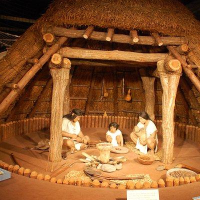 竪穴式住居の模型