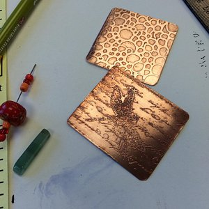 Etched metal jewelry class - the result