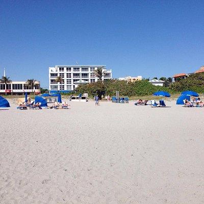 Beach view to town