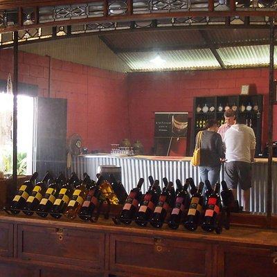 Wine tasting at Mansfield Wines, Mudgee