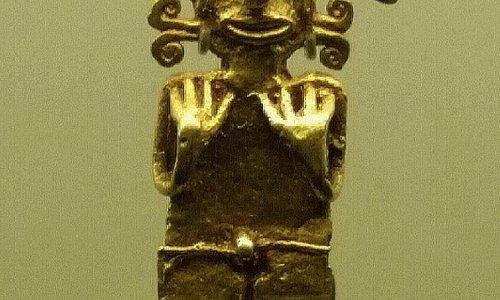 Estatuilla de la Cultura Quimbaya - Museo del Oro Quimbaya, Armenia, Quindio.