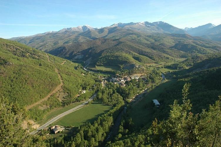 Senterada, al pie de los Pirineos