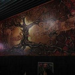 Beautiful Mural on the wall at The Pour House