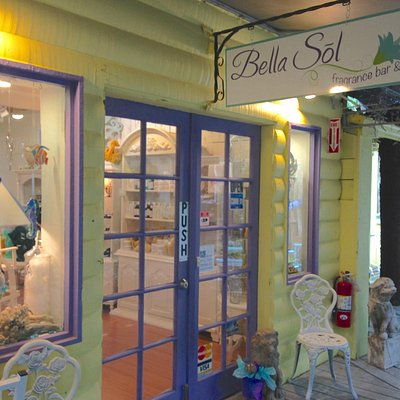 Bella Sol is located at the Rain Barrel, home of the giant lobster, mm 86.7 bayside Islamorada,
