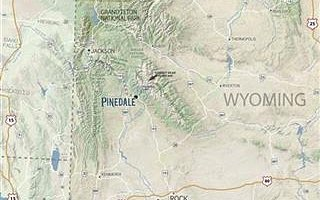 Pinedale, Wyoming Map
