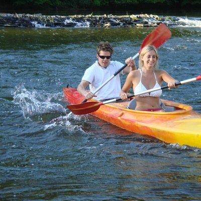 Kayak biplace sur la Semois à Alle