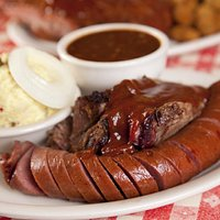 Sliced Brisket and Sausage Combo