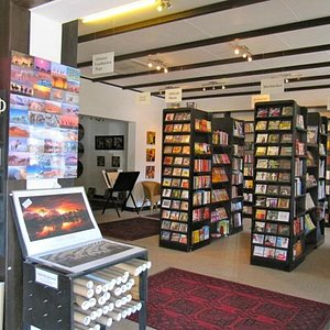 Part of the book shop, on the ground floor
