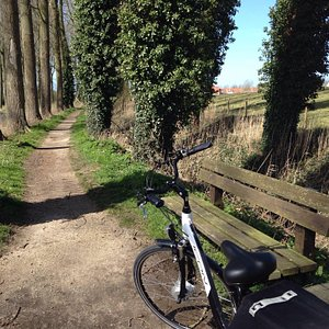 Cycled to Damme really easily on this electric bike!