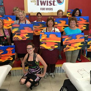 Painting with a Twist, Fun Day, new artists.