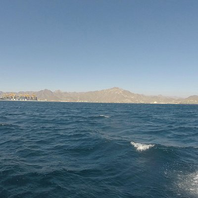 Khor Fakkan from the surface