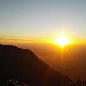 Beautiful sunset at Zomba mountain