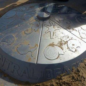Prestatyn Central Beach marker