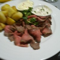 Great meat, potatoes and cream!