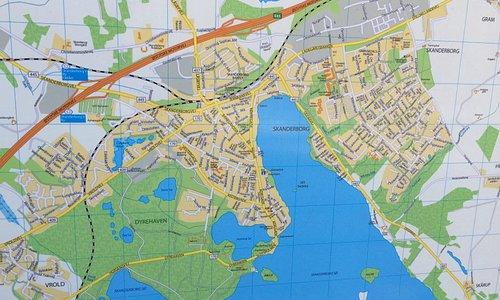 Kort med placering af Dyrehaven