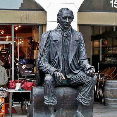Hans Christian Andersen on Bench