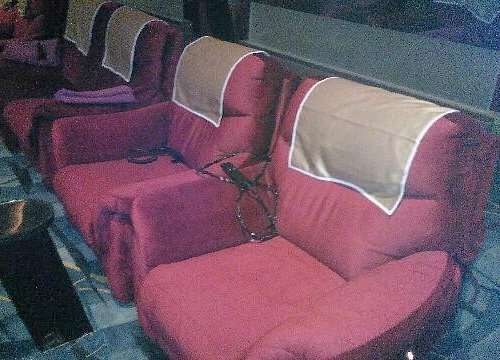 This is the front row; notice the individual seats; and the couch seats next to them.