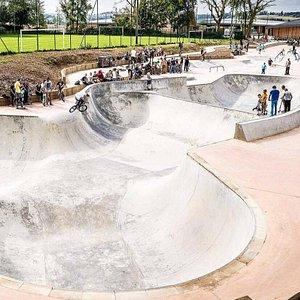 Vue sur le Skate Park de Bruay-La-Buissière - © Ville de Bruay-La-Buissière