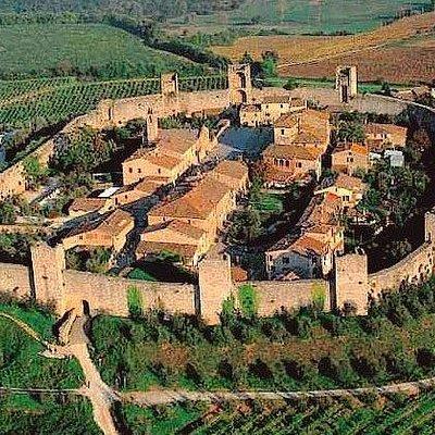 Castello Monteriggioni visto dall'alto!!