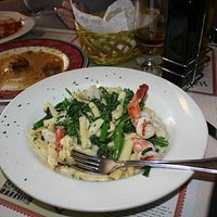 Capellini with Broccoli Rab and Shrimps.