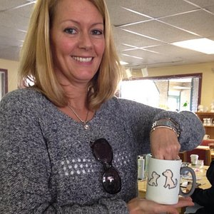 You can customize a cup to look just like Molly and Lily!