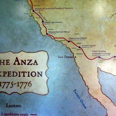 Exhibit at the Martinez Adobe (Muir House) Martinez - Juan Bautista de Anza National Historic Tr