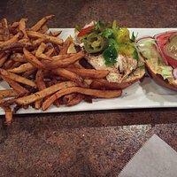 Green egg burger