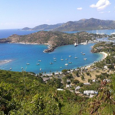 Antigua 's treasure Half moon bay and other historical sites.
