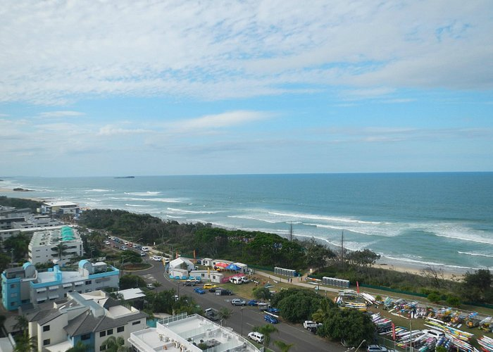 View of the beach from accommodation