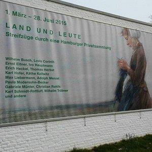 Plakat am Barlach Haus