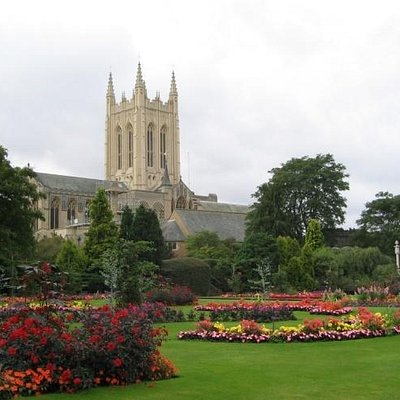 The Abbey Gardens and Cathedral tower