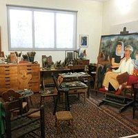 his studio on the third floor