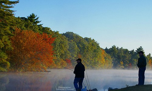 Fishing in the Fall in Hope Valley, photographer Catherine O'Connell