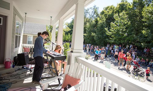 Live music at Porchfest in the Carmel Arts & Design District.