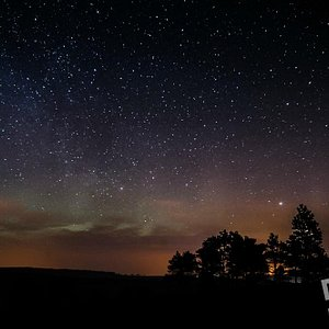 Stars and Northen lights from Dufftown, whisky country.