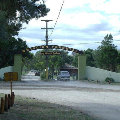 Entrada a la reserva al final de calle 26