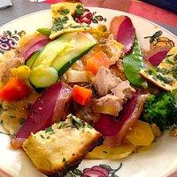 Ravioles aux champignons, foie gras et magret fumé