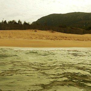 Вид на пляж с воды