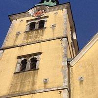 De kerk bekeken naar boven