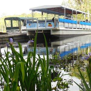 Waccamaw River Tours 49-passenger pontoon boat.