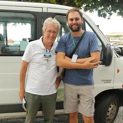 Фото Алексея с коллегой.