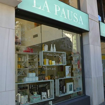 Front of Spa. find La Pausa between the Cathedral and the tropical garden walk