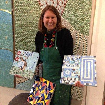 mis obras en mosaico camaleon