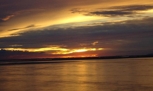 Extreme beauty of a lovely sunset at the river.