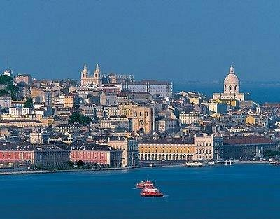 View of Lisbon from across the Tejo River