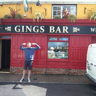A ging outside gings bar