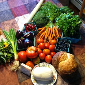 Another Farmers Market Shopper's purchases!