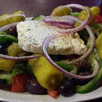 Greek Village Salad...easily enough for two people