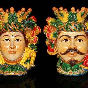 Teste di Turco h cm 60 Ceramiche Tre Erre Palermo
